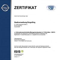Wie die erste ISIS12-Zertifizierung abgelaufen ist