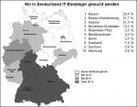 Regionale Verteilung der offenen IT-Stellen