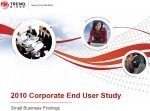 Trend Micro: 2010 Corporate End User Study