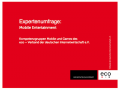 eco: Expertenumfrage Mobile Entertainment