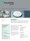 Flyer: CryoSol plus (Bild: Fraunhofer UMSICHT)