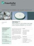Flyer: CryoSol plus (Bild: Fraunhofer UMSICHT)