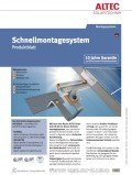 Schnellmontagesystem, ©ALTEC Solartechnik AG