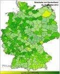 Solarkarte Deutschland, © PV-Log