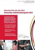 Plakat: Arbeitsschutzpreis 2013, © DGUV