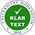 Siegel der Klartext-Initiative, © Universität Hohenheim