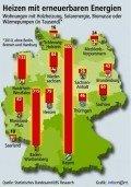 Alternatives Heizen nach Bundesland, © LBS/Landesbausparkassen