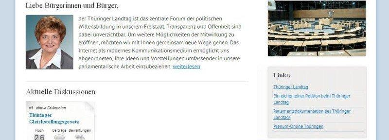 Online-Diskussionsforum Thüringen © Thüringer Landtag