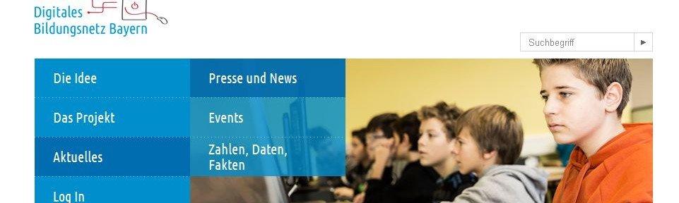 Bayerische Schulen testen neue IT-Infrastruktur, Screenshot © www.bildungsnetz-bayern.org