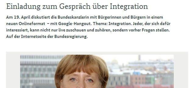 Aufruf zur Beteiligung, © www.bundesregierung.de/Webs/Breg/DE/Bundeskanzlerin/Hangout/hangout_node.html