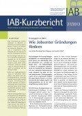 IAB-Kurzbericht 27/2013, ©IAB