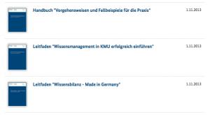 Neue Publikationen zum Thema Wissensmanagement in KMU, © BMWi