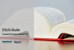 ESUG-Studie, ©Roland Berger/Noerr