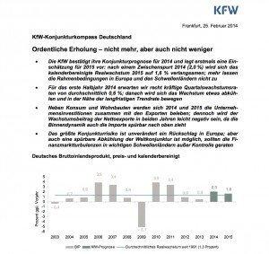 KfW-Konjunkturkompass, © KfW