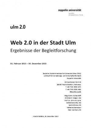 Web 2.0 in der Stadt Ulm – Ergebnisse der Begleitforschung, © TICC