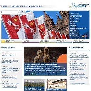 Stadtportal Worms, Screenschot www.worms.de © Stadtverwaltung Worms/MittelstandsWiki