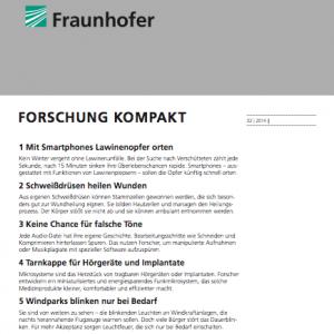 forschung kompakt 2/2014, © Fraunhofer Gesellschaft