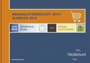 Händlerbund-Studie Januar 2014: Weihnachtsgeschäft 2013/Ausblick 2014; © Händlerbund 2014