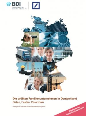 Die größten Familienunternehmen in Deutschland, Frühjahrsbefragung 2014, © BDI, Deutsche Bank, IfM Bonn