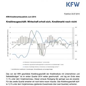 Kreditmarktausblick Juni 2014, © KfW