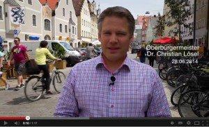 OB-Videostatement vom 28.06.2014: Fußgängerzone – Wie geht es weiter? (Screenshot, © YouTube)
