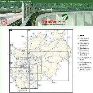 Straßen.NRW, Screenshot ©Landesbetrieb Straßenbau Nordrhein-Westfalen