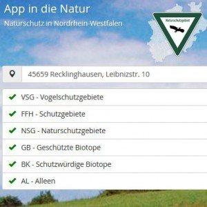 App in die Natur, ©Landesamt für Natur, Umwelt und Verbraucherschutz Nordrhein-Westfalen