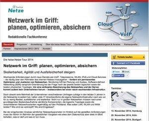 heise Netze-Tour 2014, © Heise Zeitschriften Verlag