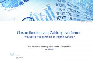 Gesamtkosten von Zahlungsverfahren. Was kostet das Bezahlen im Internet wirklich (©ibi research)