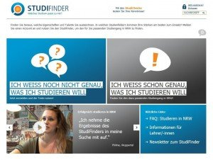 NRW StudiFinder @screenshot studifinder.de