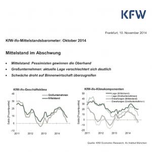 KfW-ifo-Mittelstandsbarometer Oktober 2014, © KfW