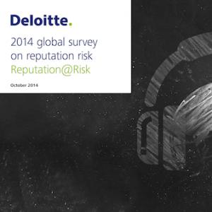 2014 global survey on reputation risk Reputation@Risk, © Deloitte
