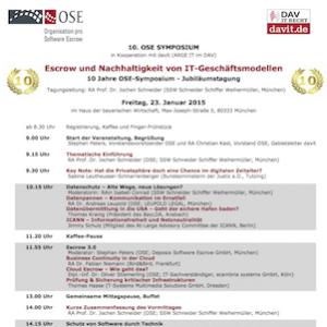 10. OSE-Symposium: Escrow und Nachhaltigkeit von IT-Geschäftsmodellen, © OSE