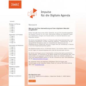 E-Government-Selbsttest: Impulse für die Digitale Agenda, © init