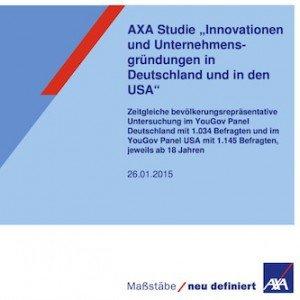 Innovationen und Unternehmensgründungen in Deutschland und in den USA, ©AXA