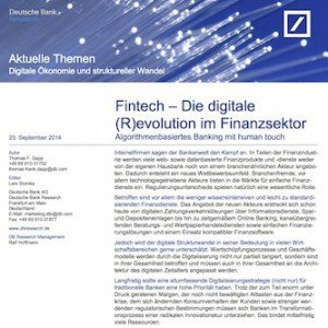 Fintech – Die digitale (R)evolution im Finanzsektor, © DB Research