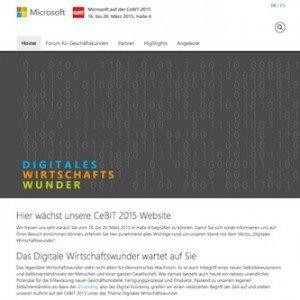 Microsoft-Webpräsenz zur CeBIT 2015, ©Microsoft