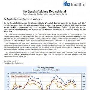 ifo Geschäftsklimaindex Januar 2015, ©CESifo