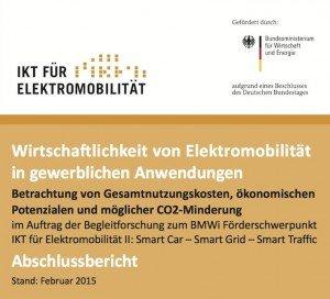 Wirtschaftlichkeit von Elektromobilität in gewerblichen Anwendungen, ©BMWi