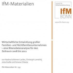 Wirtschaftliche Entwicklung großer Familien- und Nichtfamilienunternehmen, ©IfM Bonn