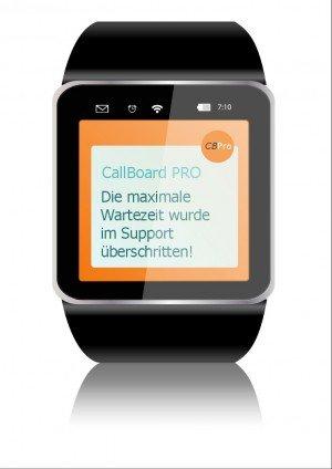 Smartwatch mit CallBoard PRO, ©o-byte.com