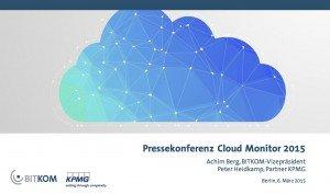 Cloud Monitor 2015, ©Bitkom Research