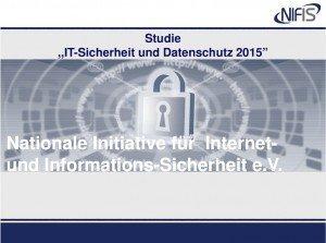 Studie: IT-Sicherheit und Datenschuth 2015, ©NIFIS