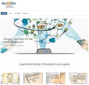 SmArPro-Webpräsenz, ©Fraunhofer IML
