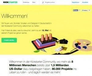 Kickstarter Deutschland, ©Kickstarter, Inc.