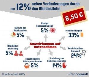 Infografik: Mindestlohn im deutschen Mittelstand, ©techconsult GmbH
