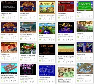MS-DOS-Games auf Archive.org, © The Internet Archive