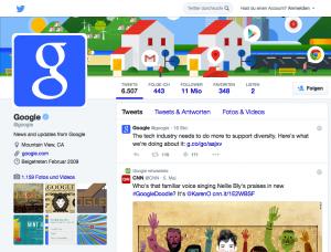 Wieder zusammen, © Google/Twitter