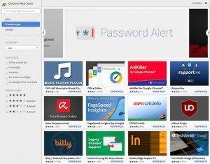 Chrome Web Store, ©Google, Inc.
