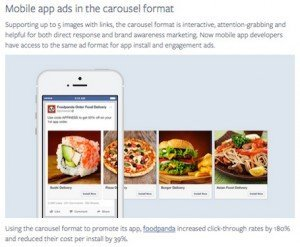 Facebook Carousel Ads, © Facebook